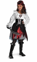 Girls Deluxe Pirate Costumes  - Pirate Lass - sold out