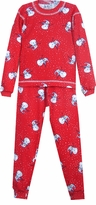 Christmas Pajamas - Red Snowmen - (Matching Adult too!)