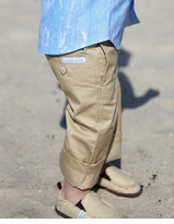 Little Boys Khaki Pants - Tan Chino Infant or Toddler Khakis