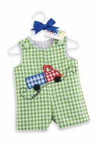 All Boy - Green Truck Shortall  Mud Pie sold out