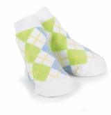 Little Boys Argyle Dress Socks - White/ Blue SOLD OUT