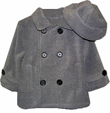 Grey Pea Coat with Hat  sold out