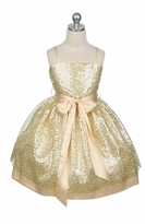 Beautiful Gold Sequined Girls Party Dress - sold out