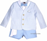 Boys Eton Suit - Lt Blue - Infant Or Toddler Boys - SOLD OUT