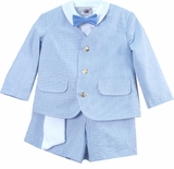 Boys Dress Clothes -  Seersucker Eton Suit - SOLD OUT