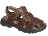 BROWN Boys Sandals - Brown Leather