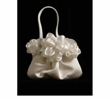 White Satin Flower Bag