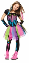 Girl's Funky Bones Costume: Tween Girl's Skeleton Halloween Costume