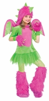 Girl's Dragon Costume: Tween Girl's Fuzzy Dragon Hallloween Costume