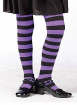 Child Purple and Black Striped Tights   out of stock