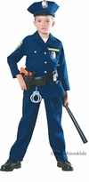 Child Policeman Costume - Deluxe - With Full Gear Kit