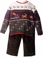 2T available Boys Santa Reindeer Sweater Set - SOLD OUT