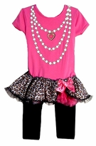 Animal Print Tutu tunic - legging set - SOLD OUT