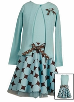 Aqua Dot Cardigan Dress - SOLD OUT
