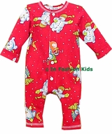 Baby Christmas Pajamas - Red Snowman - SOLD OUT