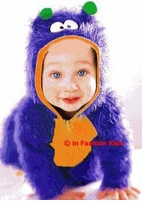 Baby Costume - Blue Furry Monster by Le Top