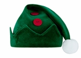 Baby Elf Hat - Green Velour
