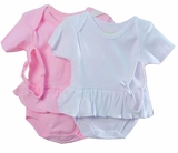 Baby Girls Skirted Bodysuit with Headband