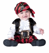 Baby or Toddler Pirate Costume: Infant Captain Halloween Costume-