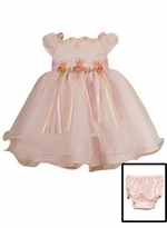 Baby Pink Formal Dress - Double Hem Dress - SOLD OUT