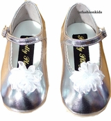 Baby Shoes - Silver Mary Janes - SOLD OUT