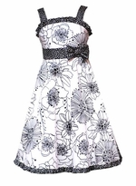 Black and Cream Floral Sundress - Sold out