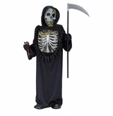 Bleeding Skeleton Costume - with mini Hand Pump inside