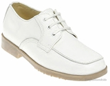 Boys Dress Shoes - White Leather