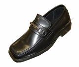 Boys Dress Shoes Black with Buckle - CLEARANCE