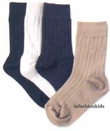 Boys Socks -  Dress Rib Crew Sock - SOLD OUT