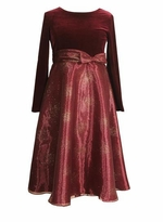 Burgundy Shimmer Dress -  sold out