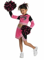 Cheerleader Costume With Pom Poms - Go Team Pink - sold out