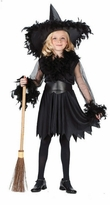 Child Black Feather Witch Costume - Out of Stock
