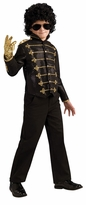 CHILD Michael Jackson Deluxe Black Military Jacket Costume