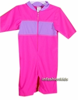 Childrens Swimwear ~ Spf Kids Swimwear - Pink / Lilac