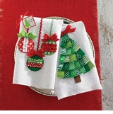 Christmas Linen Towels Ornament or Tree  Towel
