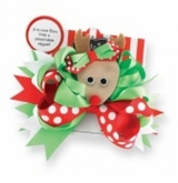 Christmas REINDEER Hair Clip - Removable Reindeer