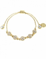 Crystal Pave Pull Chain Bracelet