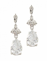 Crystal Teardrop Dangle Post Earrings