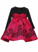 Elegant Red with Black  Scroll Party Dress - Double Bows!  SOLD OUT