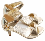 Fabulous Little Girls Heels - GOLD  Size 3 Girls - SOLD OUT