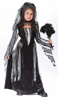 Girls Black Rose Spirit Costume