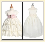GIRLS DRESSES - IVORY