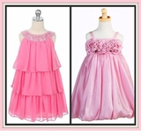 GIRLS PINK DRESSES