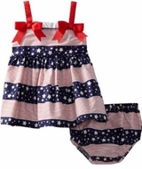 Bonnie Jean Newborn Stars and Stripes Sundress