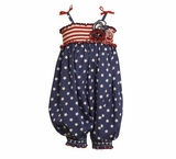Mixed Print 4th Of July Party Pant