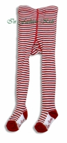 Red and White Striped Tights