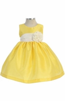 Baby Dress : Yellow Infant Girls Dupioni Dress