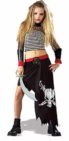 Shipwrecked Girls Pirate Costume - TWEEN