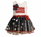 Girls Patriotic - Pageant Dress American Flag Tutu Dress